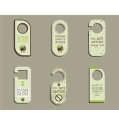 Organic Door knob or hanger sign set- do not vector image