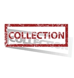 Collection outlined stamp vector