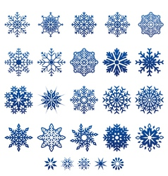Snow flake icons vector