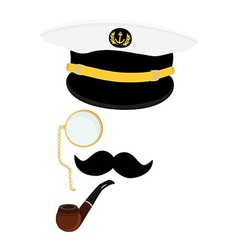 Navy captain symbol vector