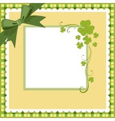 Saint Patricks Day Postcard vector image