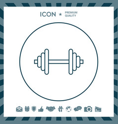 Barbell line icon vector