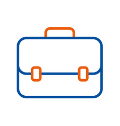 Business briefcase for travelling icon modern vector