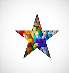 Colorful star isolated on white background vector
