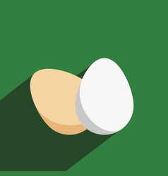 Eggs icon in a flat design with long shadow vector