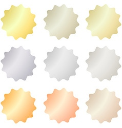 empty set of labels that can be used as a seal the vector image vector image