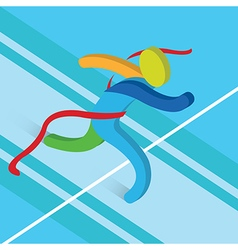 Finish line running icon athletics concept3d vector