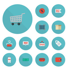 flat icons payment buy now purse and other vector image vector image