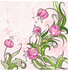 Floral background eps10 vector image vector image