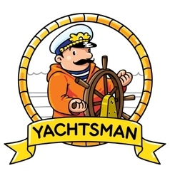 Funny captain or yachtsman profession abc series vector