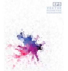 Geometric retro background vector image vector image