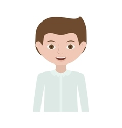 Half body guy with formal suit vector