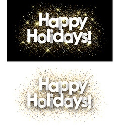 Happy holidays paper banners vector