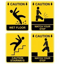 hazard signs vector image vector image