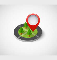 isometric pin icon vector image vector image
