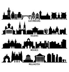 luxembourg helsinki monaco and wellington vector image