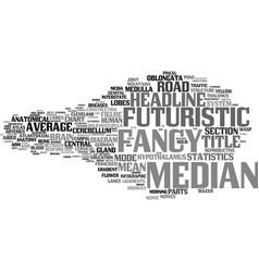 Median word cloud concept vector