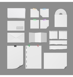 Office Paper Supplies Blank Templates Set vector image vector image