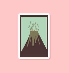 Paper sticker on stylish background eruption vector