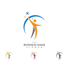 People logo template vector