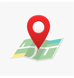 Pin location map marker direction vector