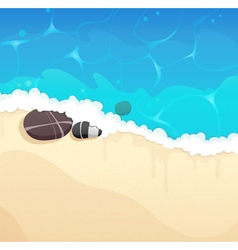 Sandy coast with pebble vector