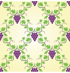 seamless grape pattern vector image vector image