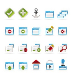 server and computer icon vector image