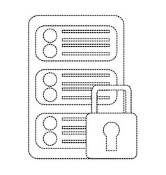 Server security safety lock web hosting icon image vector