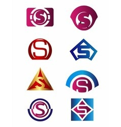 Set of letter S logo Branding Identity Corporate vector image vector image