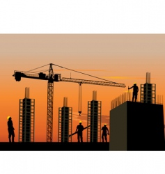 silhouette of construction site vector image vector image
