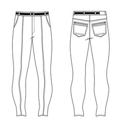 skinny jeans vector image vector image