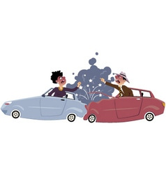 Traffic accident vector