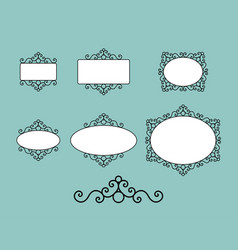 Vintage sign board and photo frame vector