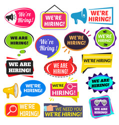 we are hiring sign vector image