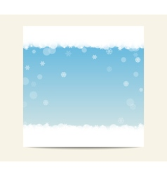 Winter blue banner template background with vector image