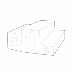 Prize podium icon outline style vector