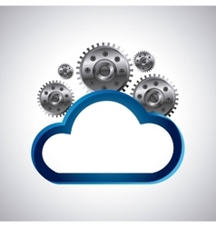 Cloud computing service isolated icon vector