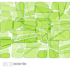 Abstract glass mosaic green vector