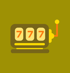 Flat icon on background poker slot machine vector