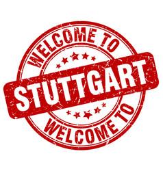 welcome to stuttgart vector image