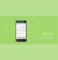 Mobile trading banner vector