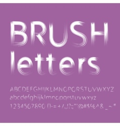 Letters painted with brush vector image