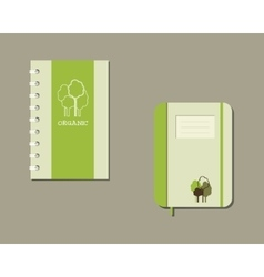 Corporate identity template design for natural vector