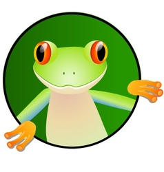 Frog cartoon vector
