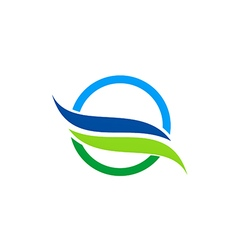 Eco water nature abstract logo vector