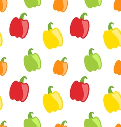 Seamless pattern with colorful bell peppers vector