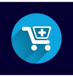 Isolated shopping cart icon with a vector