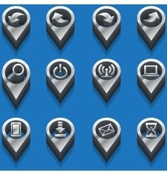 Black and white icons computer icons isometric vector
