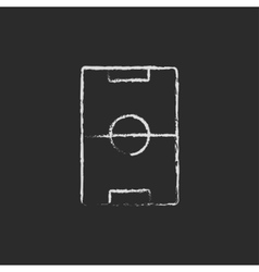 Stadium layout icon drawn in chalk vector